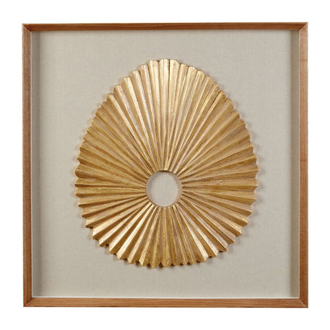 Framed Oval Fan Carving-Wall Art-Retail Therapy Interiors