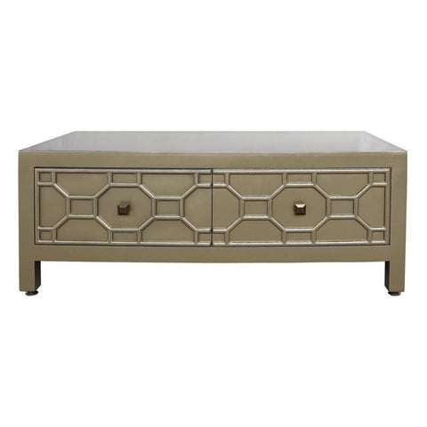 Geometric Wooden 2 Drawer Coffee Table-Furniture-Retail Therapy Interiors