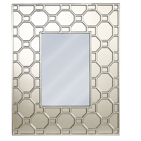 Geometric Wooden Wall Mirror 102cm-Mirrors-Retail Therapy Interiors