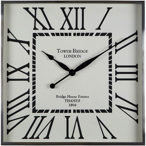 Kensington Town House Wall Clock White Face 62cm-Clocks-Retail Therapy Interiors