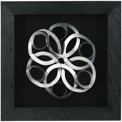 Large Silver Swirls Framed-Wall Art-Retail Therapy Interiors
