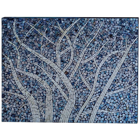 Mosaic Glass Winter Tree-Wall Art-Retail Therapy Interiors