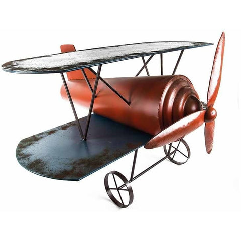 Red & Blue Metal Airplane Coffee Table-Furniture-Retail Therapy Interiors