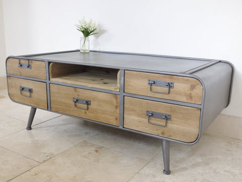 Retro Industrial Coffee Table-Furniture-Retail Therapy Interiors