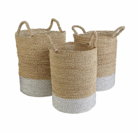 Seagrass Storage Baskets-Furniture-Retail Therapy Interiors