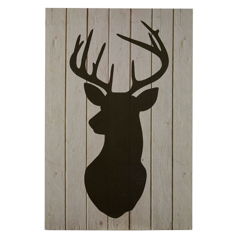 Stag Silhouette Wall Art-Wall Art-Retail Therapy Interiors