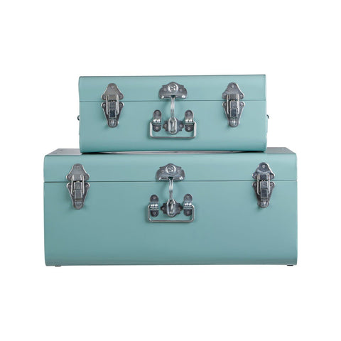 Teal Storage Trunks-Furniture-Retail Therapy Interiors