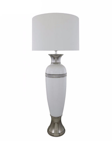 White Elongated Table Lamp-Lighting-Retail Therapy Interiors