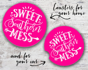 Quotable Life - Sweet Southern Mess Coaster