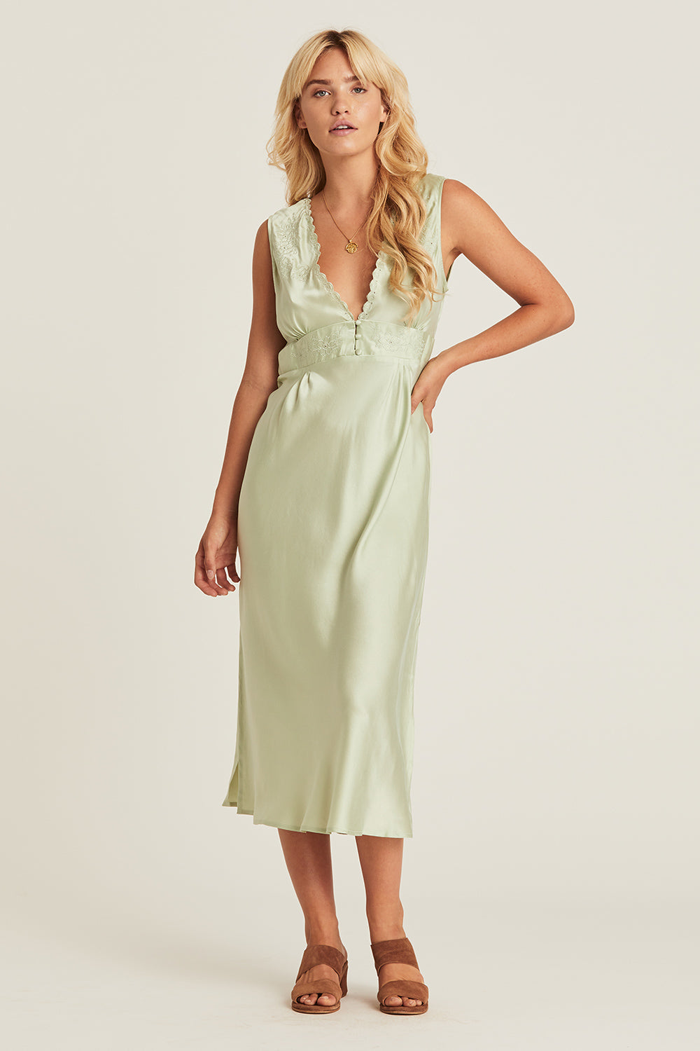 Eleanor Sundress in Sage