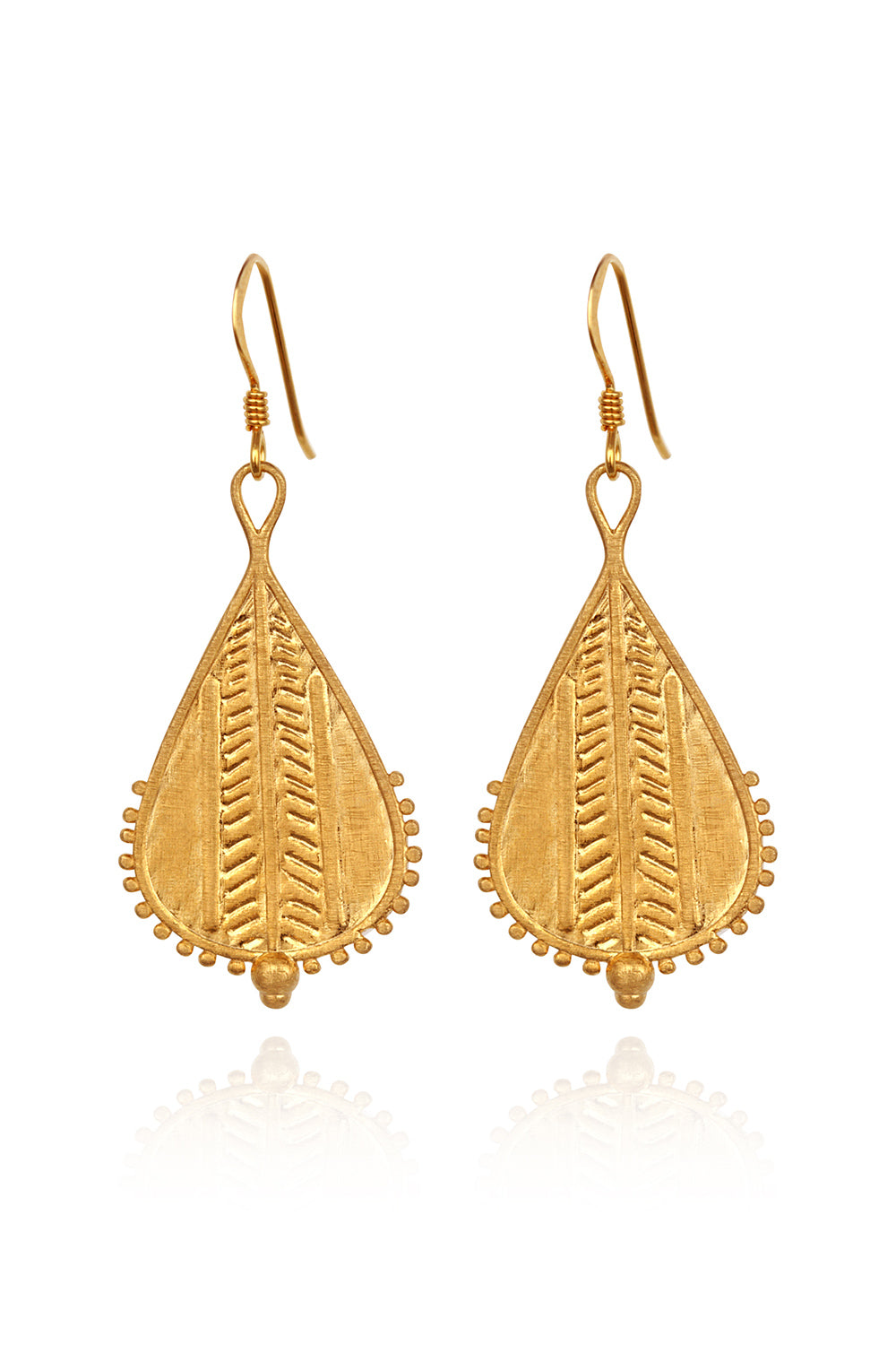 Temple of the Sun ~ Rahda Earrings Gold
