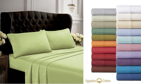 Bedsheets - 1000TC Genuine Egyptian Cotton Bedsheets - 3Pcs