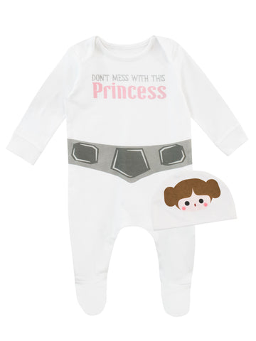 Star Wars Baby Sleepsuit and Hat