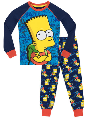 The Simpsons Snuggle Fit Pyjamas - Bart Simpson