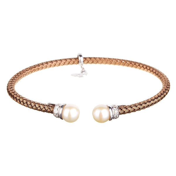 Chocolate Gold Pearl Bracelet | Vamp London Jewellery