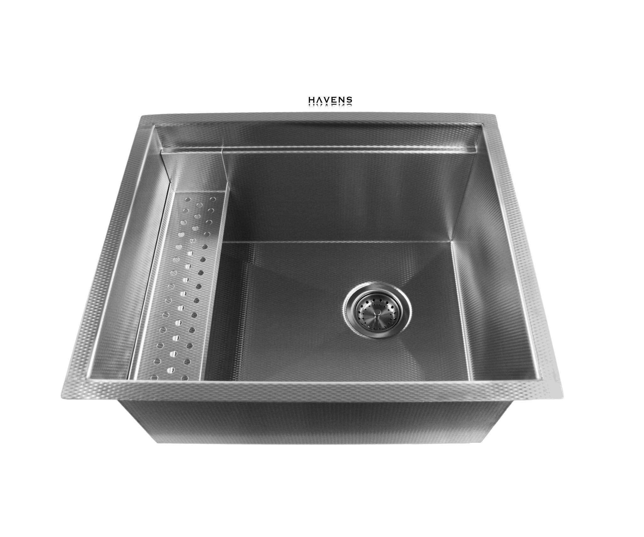 Custom made stainless steel sink usa