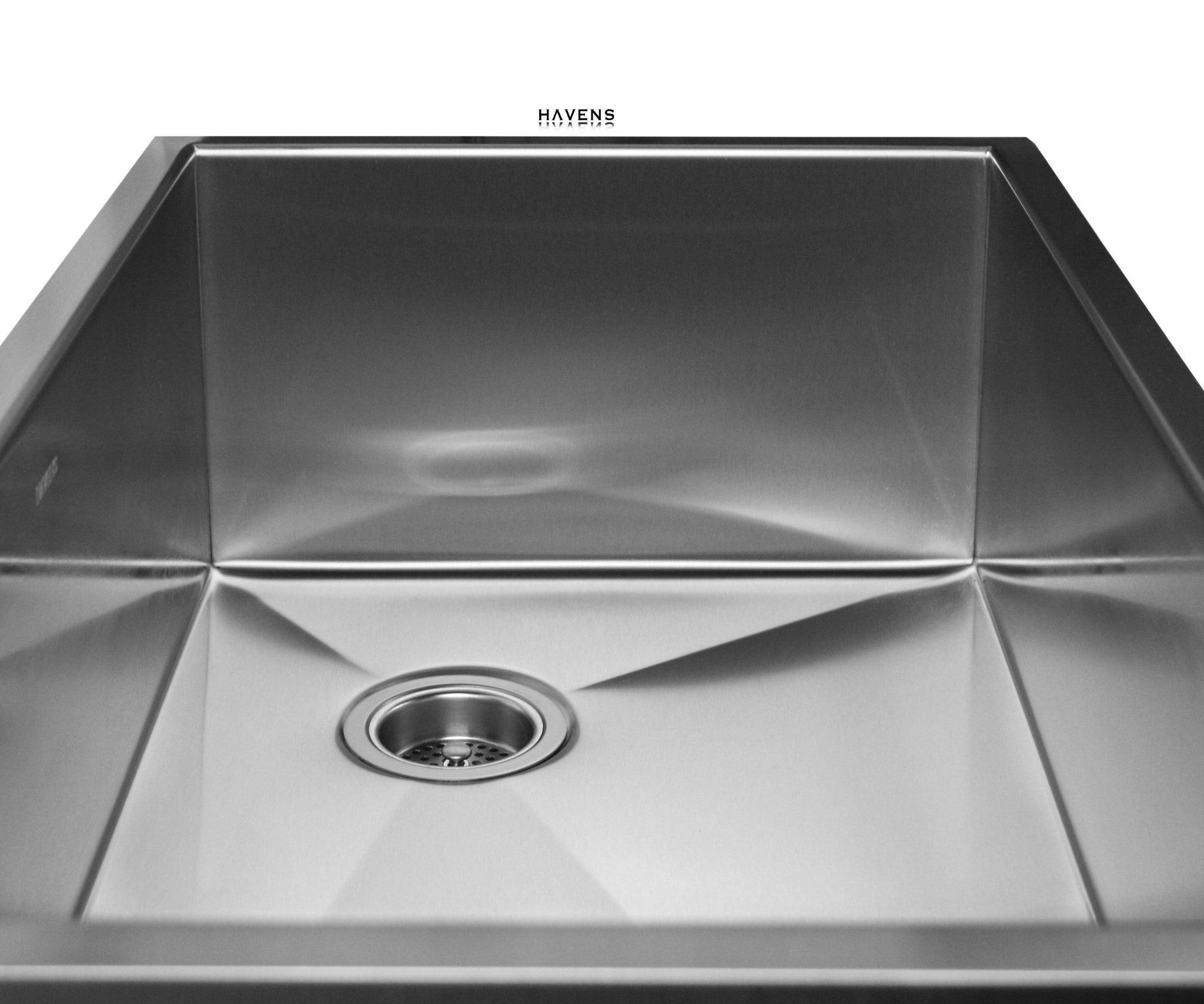 Brushed stainless steel Heritage sink with a beautiful finish.