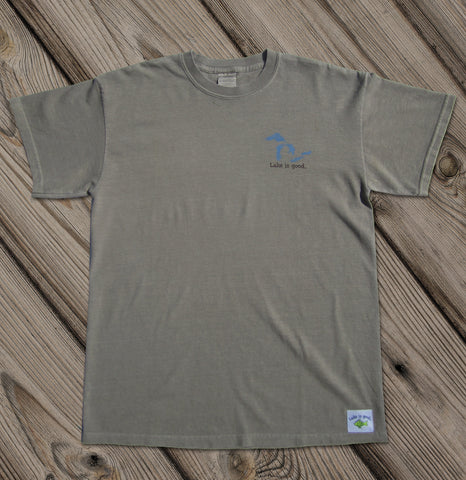 Lake is Good Sand with Great Lakes - Men's Short Sleeve