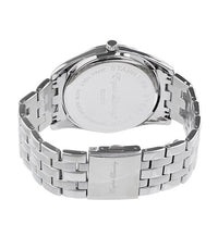 Round Silver Face with Silver Chainlink Strap Watch