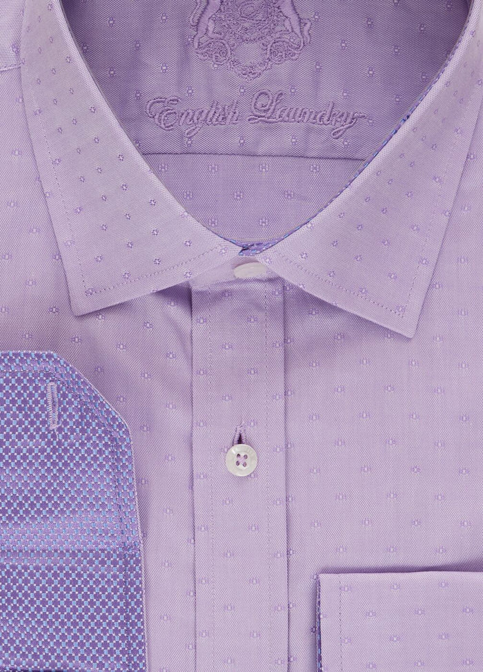 English Laundry Men's Lavender Dress Shirt