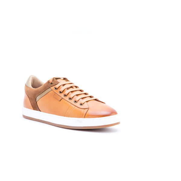 English Laundry Ireton Leather and Suede Sneaker, Cognac