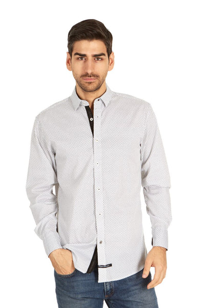 English Laundry White and Black Checked Sport Shirt