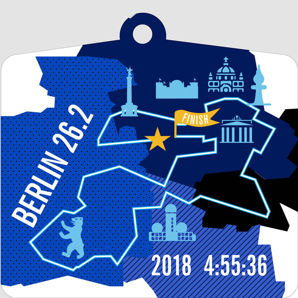 Personalized Berlin 26.2 Marathon Course Map Ornament