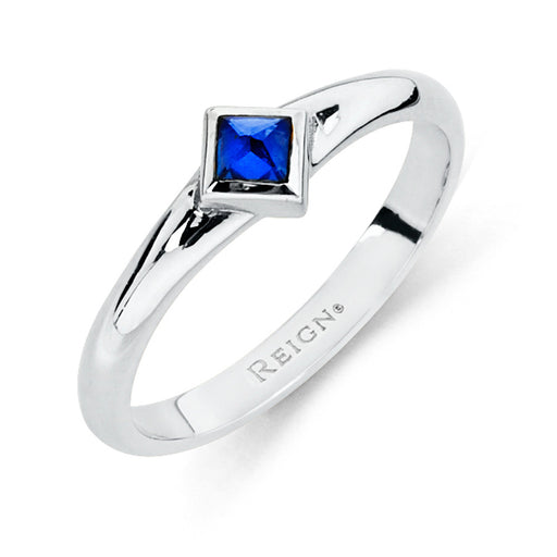Reign Solitaire Band in Sterling Silver