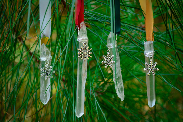 Clear Quartz Ornaments~For Sacred Yule Tree Decor - Wild Witchery