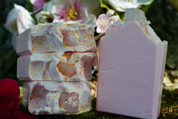 Rose Quartz Crystal Soap~For a Loving Bathing Ritual - Wild Witchery