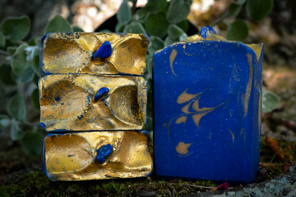 Lapis Lazuli Crystal Soap~For Bathing in Power, Wisdom & Truth - Wild Witchery