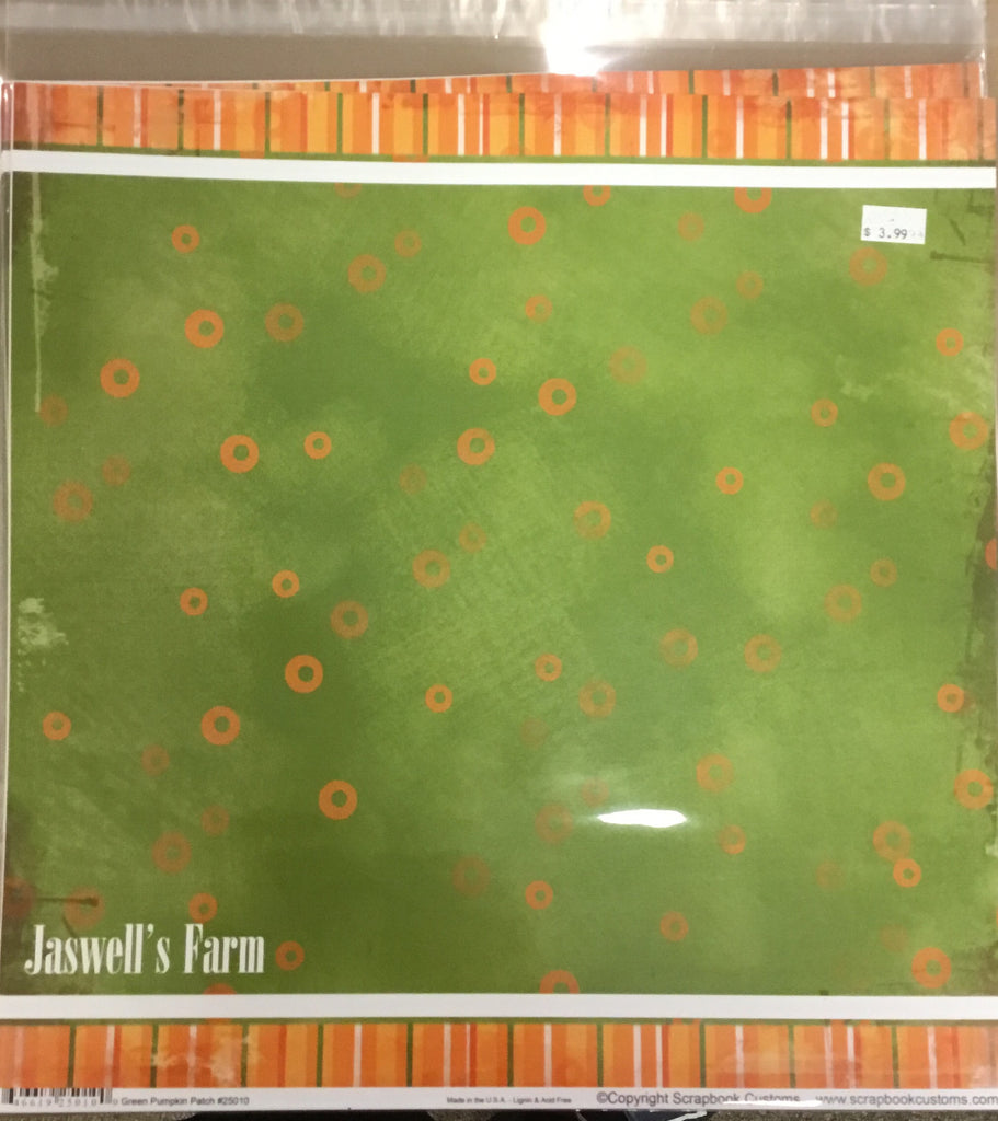 12x12 Jaswell's Farm kit w/ 1 custom paper, 2 companion papers