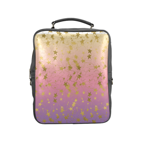 Gold Stars  on Gradient Square Backpack