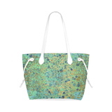 Women's Blues and Gold Patina Design Clover Canvas Tote Bag