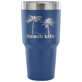 Palm Trees--Etched Tumbler -30 ounces in a  Variety of 7 Colors