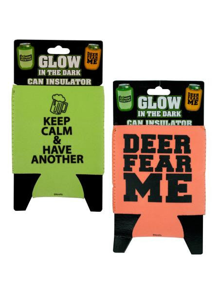 Glow in the Dark Can Insulator (Available in a pack of 24)