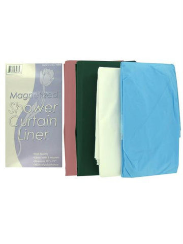 Magnetized Shower Curtain Liner (Available in a pack of 24)