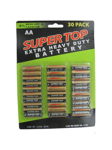 30 Pack AA Batteries (Available in a pack of 6)