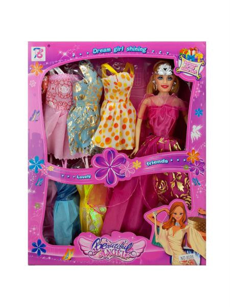 Stylish Fashion Doll with Colorful Dresses (Available in a pack of 1)