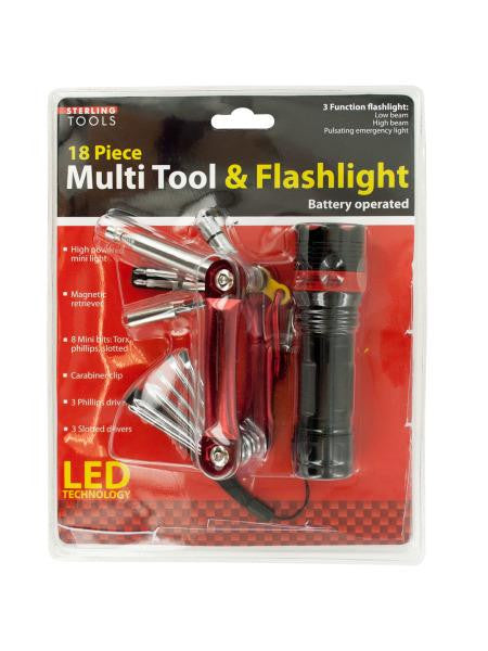 Multi Tool & 3 Function Flashlight Set (Available in a pack of 1)