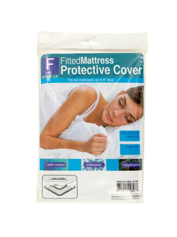 Full Size Fitted Protective Mattress Cover (Available in a pack of 12)