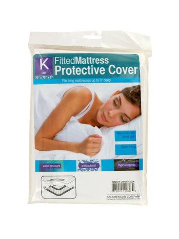 King Size Fitted Protective Mattress Cover (Available in a pack of 12)