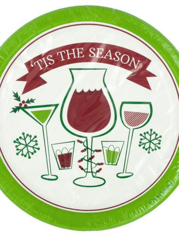 'Tis the Season Holiday Toasts Party Plates (Available in a pack of 24) - Blobimports.com