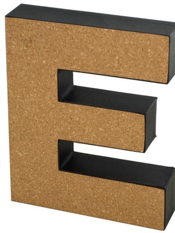 'E' Decorative Cork Board Letter (Available in a pack of 24) - Blobimports.com
