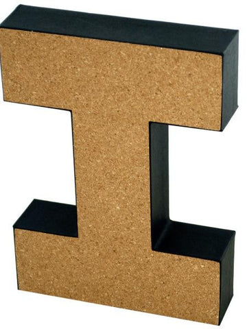 'I' Decorative Cork Board Letter (Available in a pack of 24) - Blobimports.com
