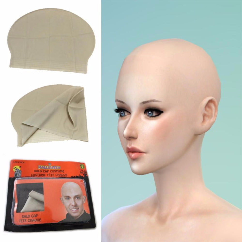 Reusable Skin head Monk nun bald cap/wig Halloween party props comedy concert film Movies Costume Dress Up event party supplies