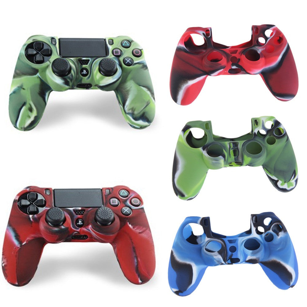 Cool Camouflage Soft Silicone Cover Case Protection Skin For Sony Playstation 4 Dualshock 4 Controller PS4 Console Decals