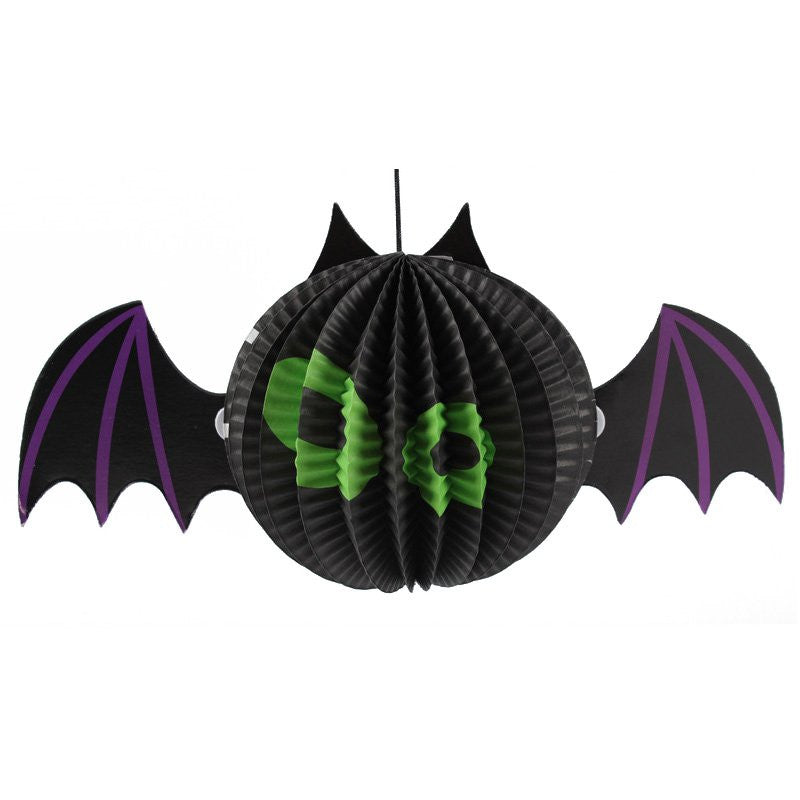Halloween Props Paper Lanterns Spiders Shape Hanging Ornaments Festival Scene Layout Party Decoration Prank Gift