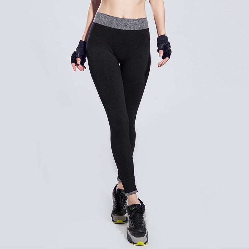 Innersy Sport Yoga Pants Fitness Outdoor Sweat-absorbent and Quick-drying Skintight Lift the Hips Running Leggings Jzh117