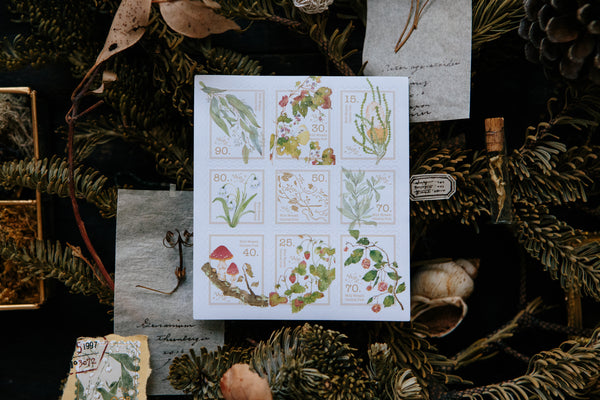 Ours Postage Stamps Sticker, Wild Wreath II | 漢克 野地花禮II郵票貼紙